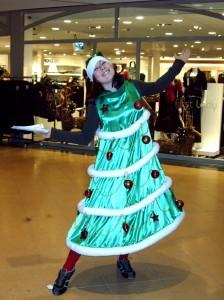 winter event kerstvrouw
